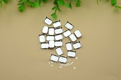 100 PCS 10mm x 14mm Rectangle Jewels's Settings For Sewing On