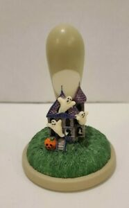 Vintage Hill Design Brown Bag Cookie Art Stamp Press Halloween Haunted House 43