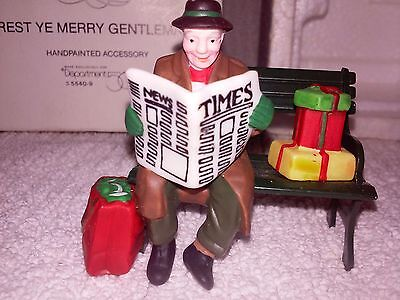 Dept 56 REST YE MERRY GENTLEMEN #55409 ~NEW w// Box and Tag