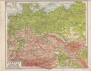 1931 map germany austria czechoslovakia physical political image is loading 1931 map germany austria amp czechoslovakia physical political gumiabroncs Image collections