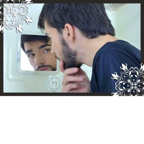 6.3 x 6.3 Mirrorvana Fogless Shower Mirror for Shaving with Lock Suction-Cup