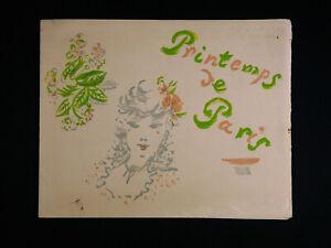 Printemps Accueil de Paris lithographie d'André DIGNIMONT (1891-1965)
