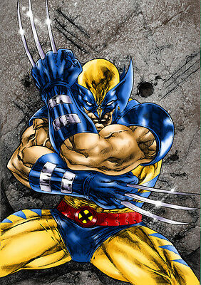 STICKER AUTOCOLLANT POSTER A4 COMIC MARVEL WOLVERINE X-MEN ADAMANTIUM N°4.