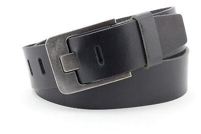 Damen//Herren Ledergürtel Cirmini Gürtel aus 100/% echtem Leder 3 cm schwarz