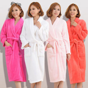 Image is loading New-Women-Lady-Loose-Long-Sleepwear-Comfortable-Robes- 211d21a60
