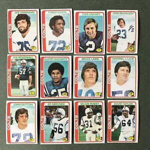 Lot 12 cartes NFL Baltimore Colts 1978 TOPPS Football Américain
