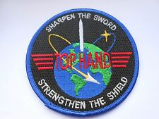 RAF/USAF squadron cloth patch  sharpen the sword strengthen the shield  576 FT