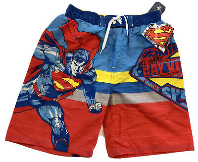 Superman Board Shorts Swim Trunks Swimsuit ~ Size 10//12 ~ New With Tags