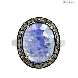 14k-Gold-Tanzanite-Gemstone-Ring-Sterling-Silver-Pave-Diamond-Handmade-Jewelry-7