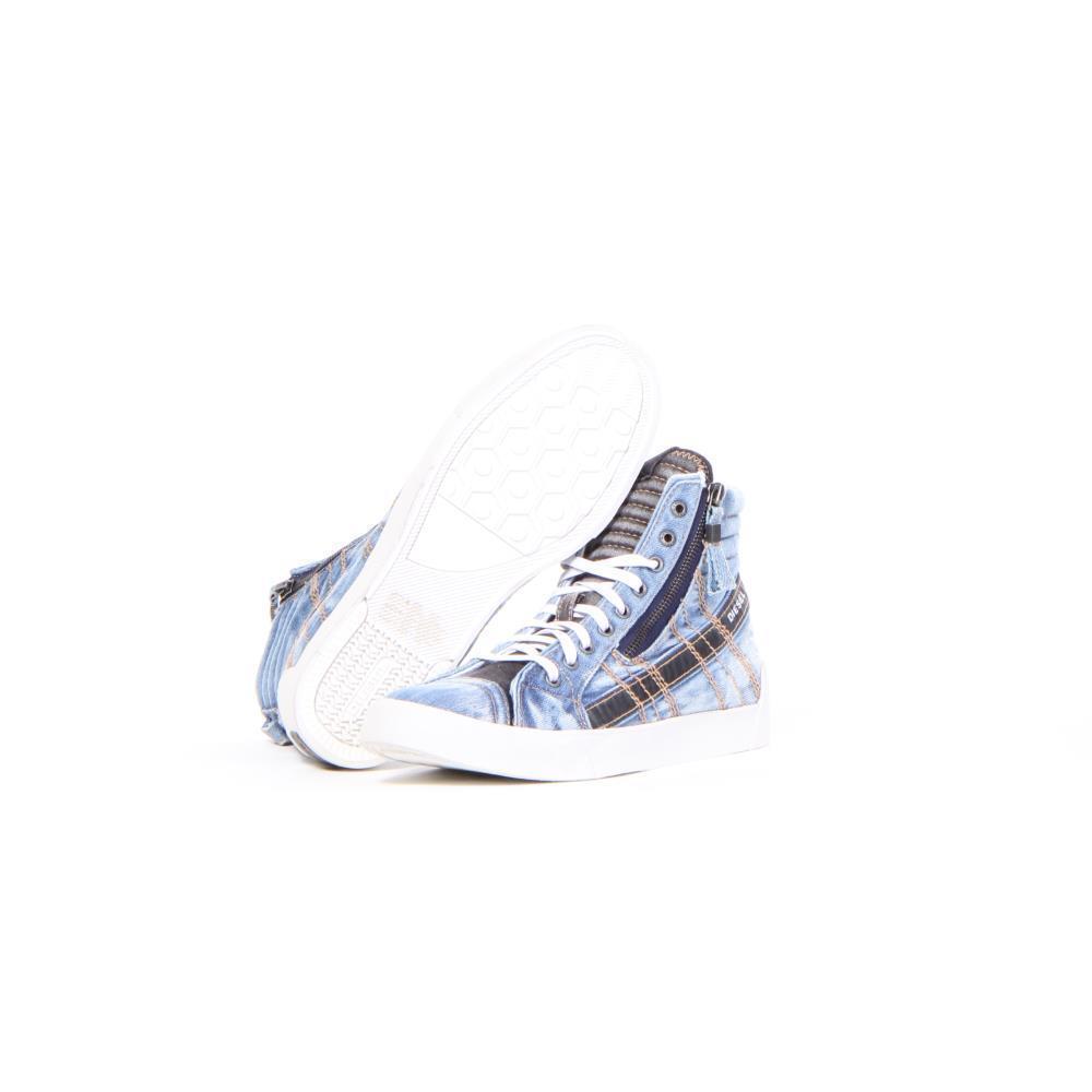 Men Diesel shoes D-String Plus Fashion bluee Size 7