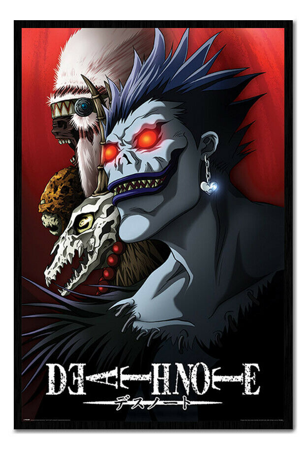 Death Note Shinigami Poster FRAMED CORK PIN BOARD With Pins   UK Seller