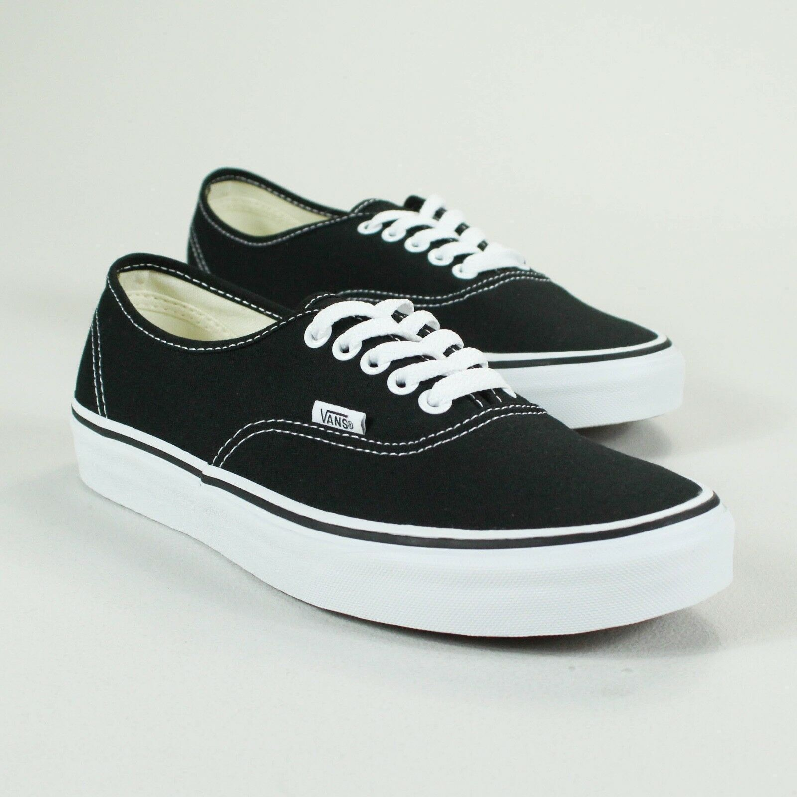 Vans Authentic Trainers Black Black Black White Brand New in box UK Sizes 4,5,6,7,8,9,10,11 d153ca