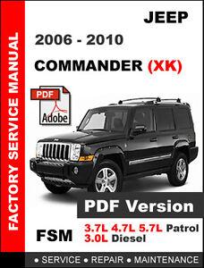 jeep commander 2006 2007 2008 2009 2010 service repair workshop rh ebay com 2007 Jeep Commander Limited 2007 jeep commander service manual pdf