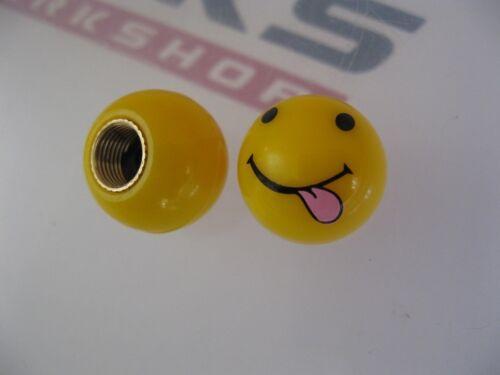 1 Pair **NEW*** SMILEY FACE TONGUE  VALVE CAPS  for Bmx//Mountain Bike X 2