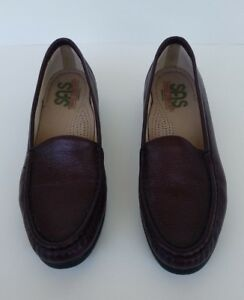 SAS-Womens-Simplify-Brown-Leather-Slip-On-Tripad-Comfort-Loafer-Shoes-Sz-9S-slim