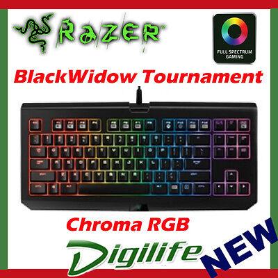 Razer BlackWidow Tournament Chroma RGB Mechanical Gaming Keyboard plus case