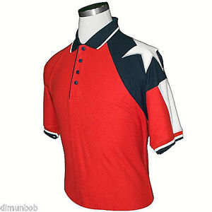 Texas-Flag-Polo-Golf-shirt-Red-Men-039-s-RP644R