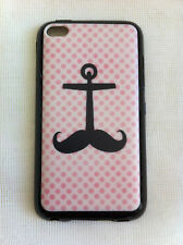 Anchor Moustache Pink Spots iPod Touch 4 Printed Cover Case for Apple