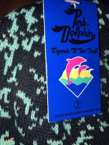 PINK DOLPHIN COMPOSITION P BEANIE  100/% AUTHENTIC NEW SOLD OUT!!