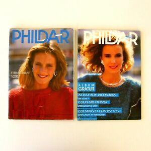 Phildar-Mailles-n-150-et-Phildar-Mailles-n-136-Lot-de-2-revues-des-annees-80