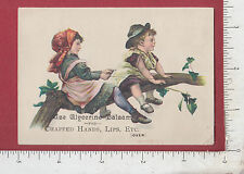 8978 Glycerine Balsam cold-sore cure trade card King Houghton Chicopee Falls MA