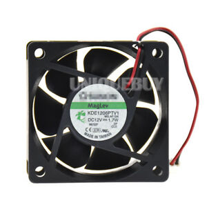 KDE1206PTV1 DC12V 1.7W 0.18A For Sunon 60*60*25mm chassis cooling fan 2pin