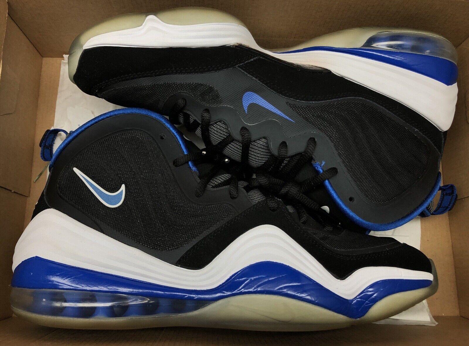 Nike Air Penny V 5 Black Game Royal White Orlando 537331-040 Sz 12