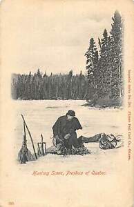 CPA-CANADA-HUNTING-SCENE-PROVINCE-OF-QUEBEC