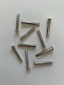 10 Stück,vernickelt 2 x 6,5 mm Spaltnieten// Sattelnieten S 5 mm Kopf 4 mm