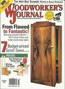 Woodworkers Journal Magazine Jewelry Cabinet Scroll Saws Belt