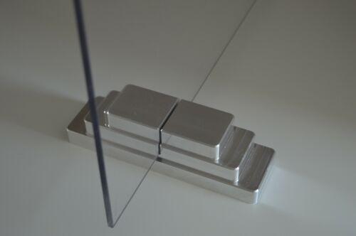 Spuckschutz Aluminium Schreibtischaufsatz 4x600x800 mm Thekenaufsatz