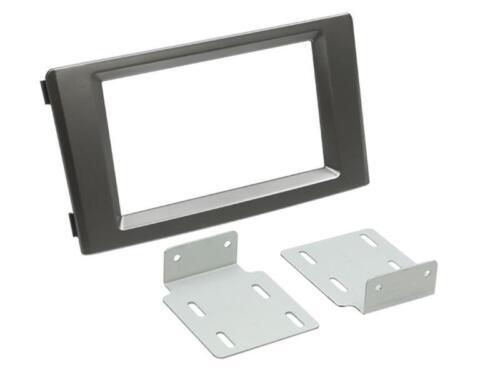 Iveco Daily 4 daily 5 auto radio diafragma instalación marco doble DIN gris oscuro
