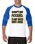 Gildan-Raglan-T-shirt-3-4-sleeve-Don-039-t-Be-Fooled-Just-Look-Like-I-Care-S-M-L-XL thumbnail 7