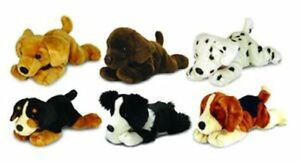 Keel-25cm-Laying-Dogs-one-of-6-Different-breeds-soft-plush-toys