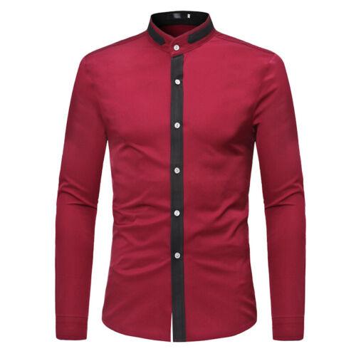 Men/'s Fashion Casual Dress Tee Shirt Slim T Shirt Long Sleeve Tops Shirts Blouse
