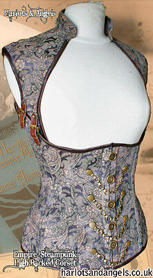 "Steampunk ""Asylum"" Corset PAPER SEWING PATTERN full Back -  Extra Large size"