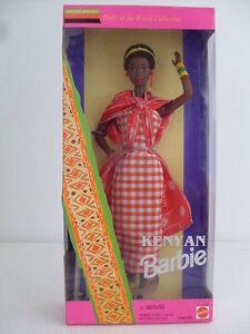 Barbie Poupées Kenyanes Du Monde Collector Edition Spéciale 1993 Keniana Bc 11181