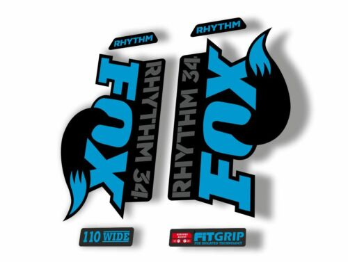 FOX 34 Rhythm 2018 Forks Suspension Factory Decal Sticker Adhesive Blue Gray