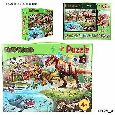 100 T Schmidt Spiele Puzzle-Box Dinos Saurierpuzzle 2x60 Dinosaurier Puzzle