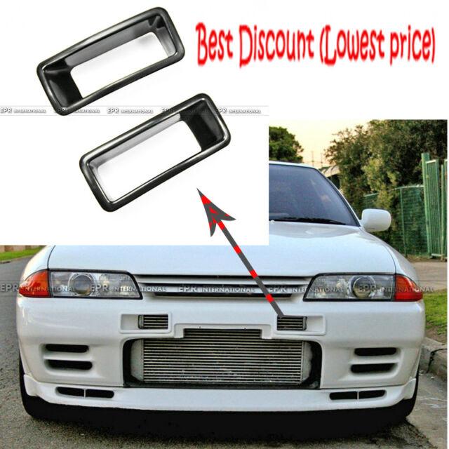 for Nissan R32 GTR 2pcs NSM N1 Style Front Bumper Vents Duct FRP Fiber