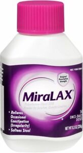 MiraLAX Osmotic Laxative Unflavored Powder Constipation Relief 8.3 oz (8 Pack)