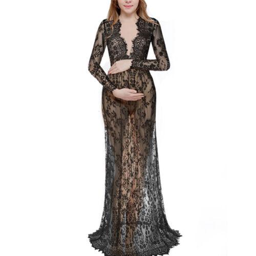 Pregnant Women/'s Lace Long Maxi Dress Party Dresses Photography Photo Shoot Prop
