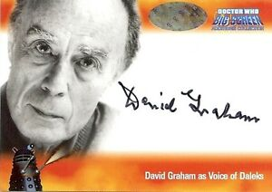 Dr-Doctor-Who-Big-Screen-Additions-Auto-Card-A2-David-Graham-Voice-of-Daleks