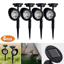 4 Pack Outdoor Garden 3-LED Solar Spot Flood Landscape Path Lights Lighting