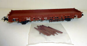 TRIX-h0-21530-3-Rungenwagen-Rlmms-56-de-la-DB-epoque-III-NEUF