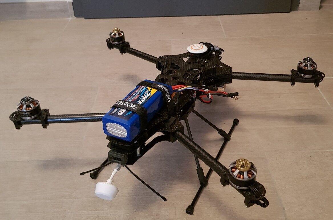 Drone pliable carbone Eyefly negro Manta DJI Naza V2 + ZENMUSE H3-3D + iOSD Mini