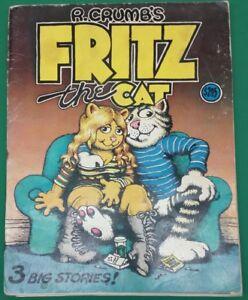 Robert-Crumb-Fritz-the-Cat-Three-Big-Stories-1969-First-Printing-VG-F