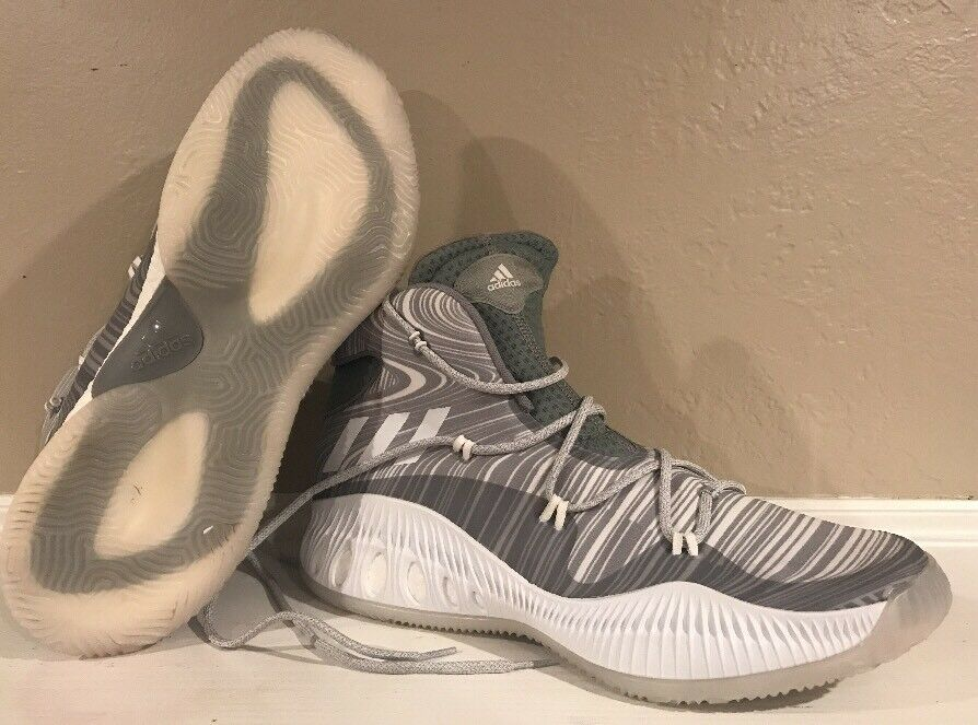 NEW Adidas CRAZY EXPLOSIVE Boost Basketball Grey White SZ 19