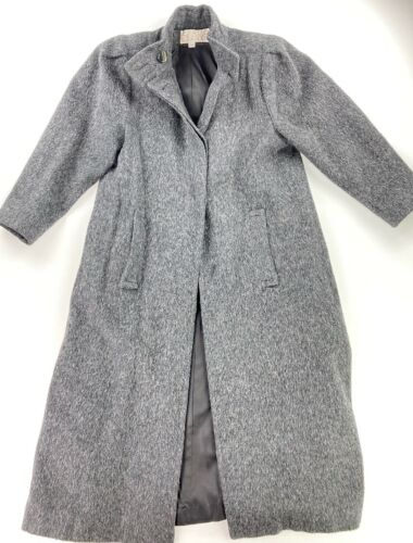 Searle Women's Wool Long Trench Over Coat Gray • S