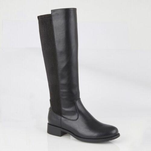 Cipriata RACHELA Ladies Winter Fashionable Memory Foam Zip High Leg Boot Black